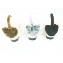 Lot de 12 caches-oreilles en forme de COEUR