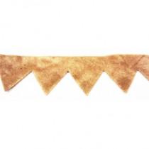 Frange triangle en daim 100M - Beige