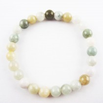 Bracelet jade multicolore en 8 mm