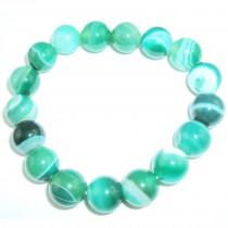 Bracelet agate vert en 12 mm