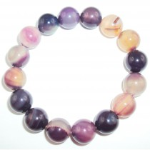 Bracelet agate multicolore en 12 mm