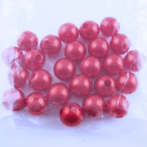 25 Perles de culture en 10 mm - Rouge