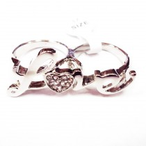 Lot 120 pcs bague love (1.50€/pc)