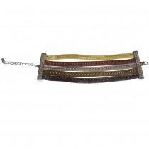 Bracelet métal tressé